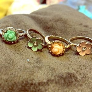 Assortment of flower rings